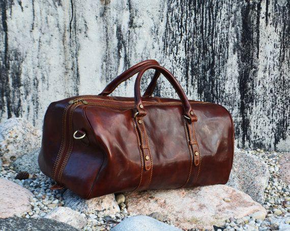 Genuine Leather Travel Bag, Weekend bag, Leather Duffel Bag,Handbag,Cabin Travel Bag, Women Duffel Bag, Mens Duffel Bag  - Julius Caesar