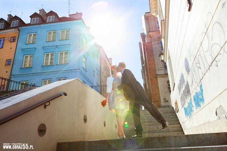 Fotograf ślubny Skierniewice Norbert Strączyński fotografia, studio 55: Witaj wiosno! - Karol & Kinga | Starówka, Warszawa