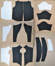 dog tuxedo patterns