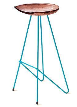 reclaimed teak root bar stool-- New York Magazine Source:  104 w. 17th nr 6th    5 shades