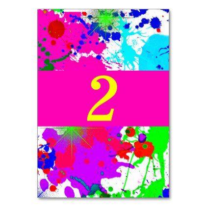 Neon Glow Paint Splatter Custom Card - chic design idea diy elegant beautiful stylish modern exclusive trendy