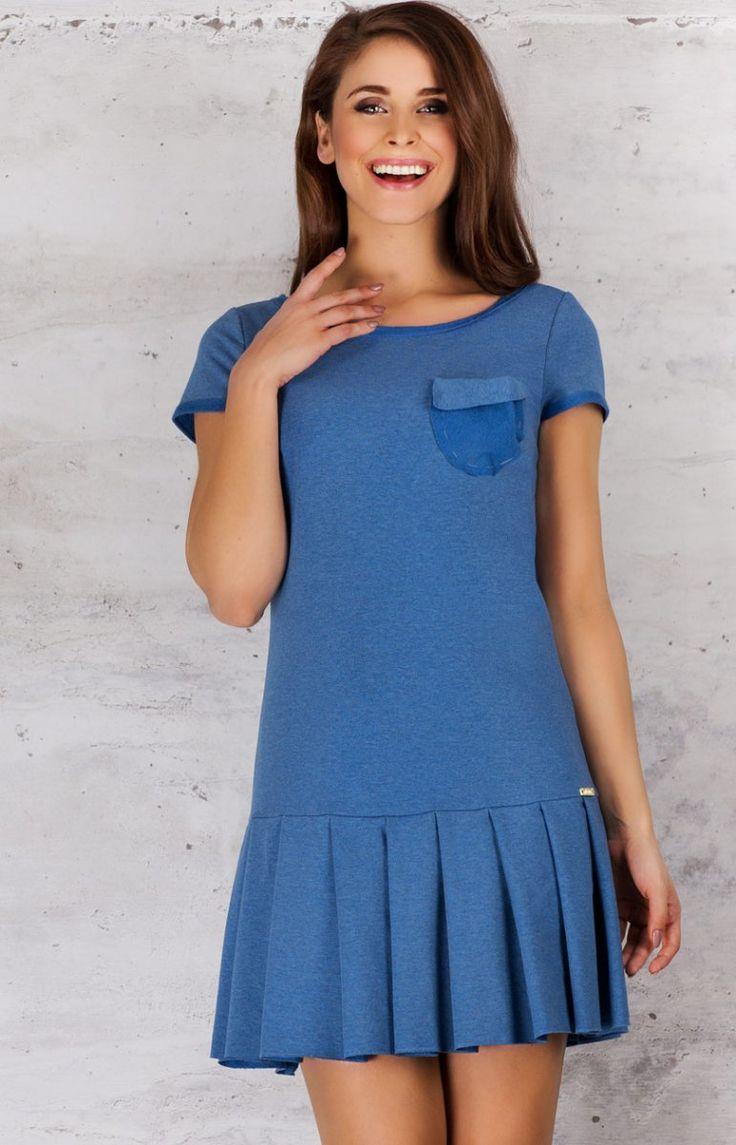 Infinite You M060 sukienka niebieska Kobieca sukienka