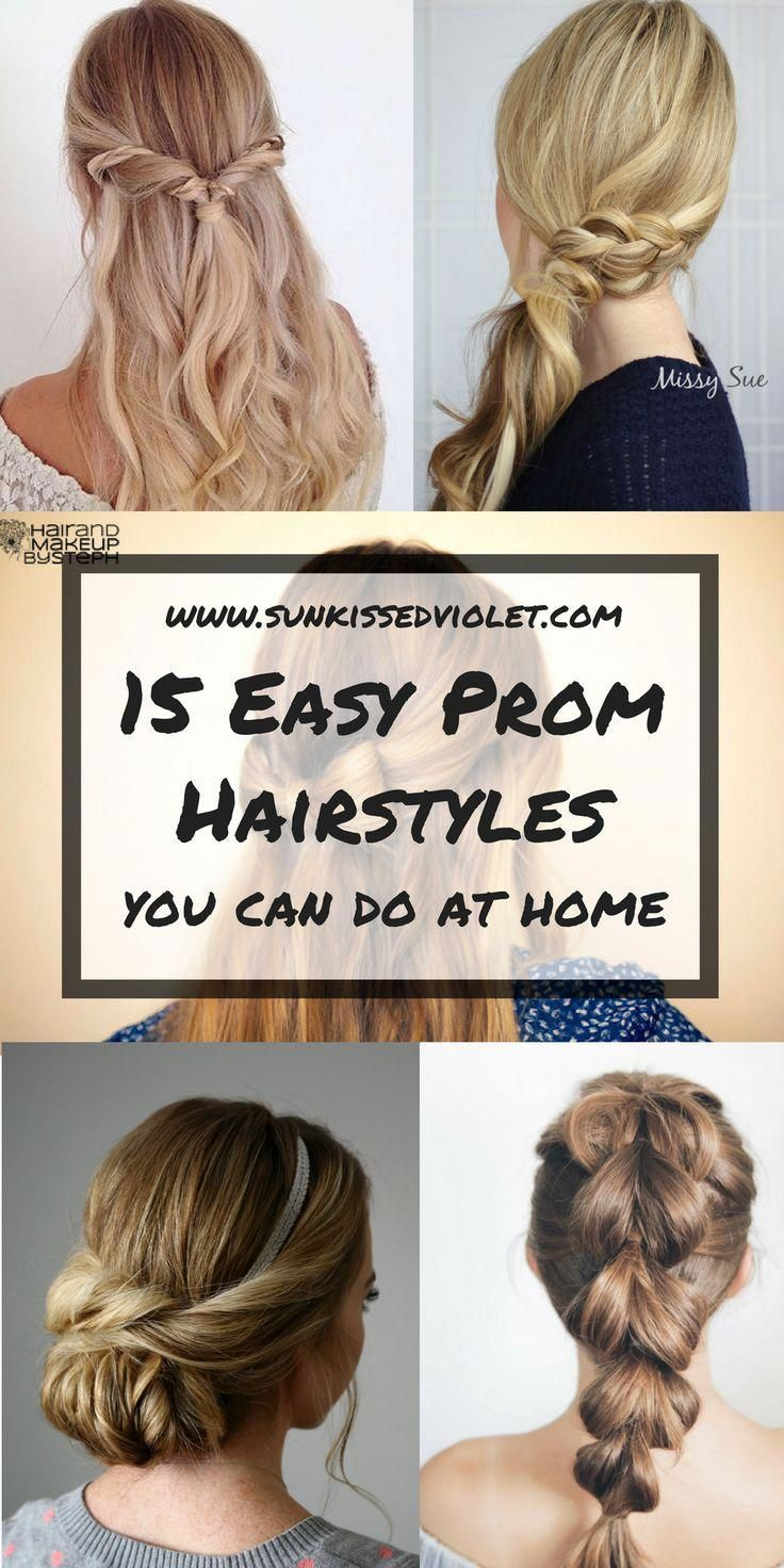 15 Easy Prom Hairstyles For Medium To Long Hair You Can Diy At Home With Step To Step Tutorials Prom Hair Hair Styles Prom Hairstyles For Long Hair Prom Hair
