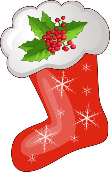 Transparent Christmas Red Stoking PNG Clipart