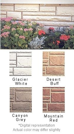 Simulated Hand Cut Stone Mobile Home Skirting Shipped Direct