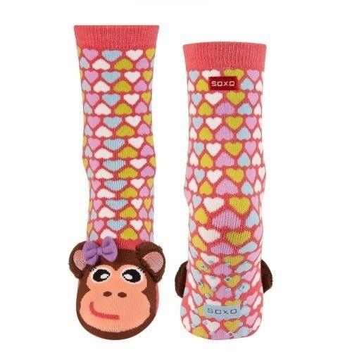Skarpety dziecięce SOXO kolorowe z uszkami, DZIECI \ Skarpety sklep online