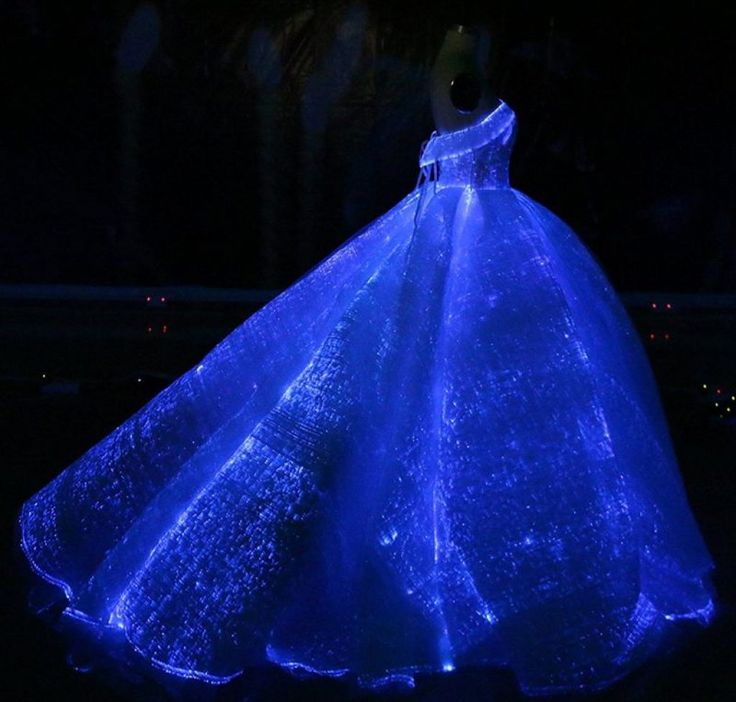 Luminous Fiber Optic Wedding Dress