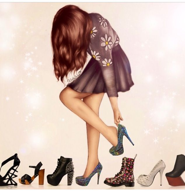 Kristina Webb's art is soo perfect!! <3 Her outfir, hair, and shoes.
