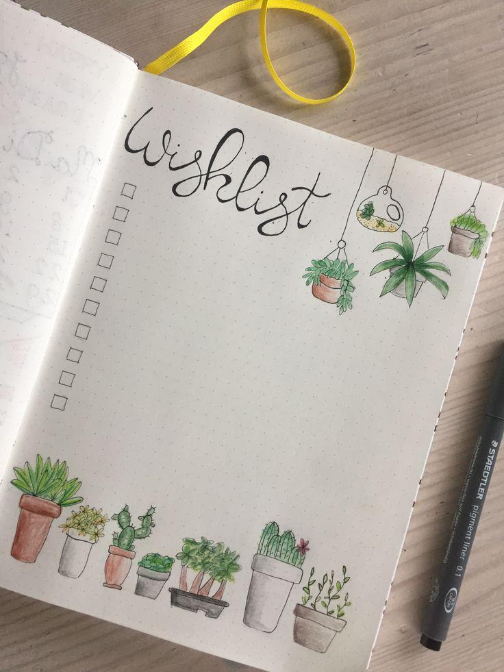 Bullet journal Wishlist