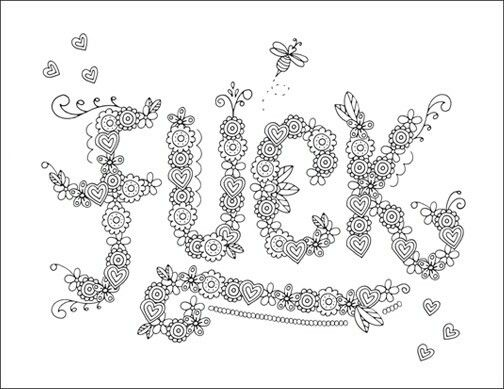 F Adult Swear Words Coloring Page Free Download From John