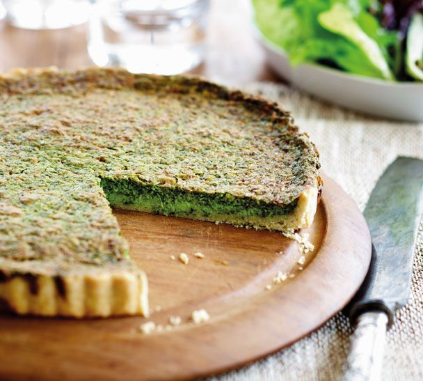 Sensational Spinach Tart - Quick and Easy Recipes, Organic Food Recipes, New Zealand Cooking Recipes - Annabel Langbein