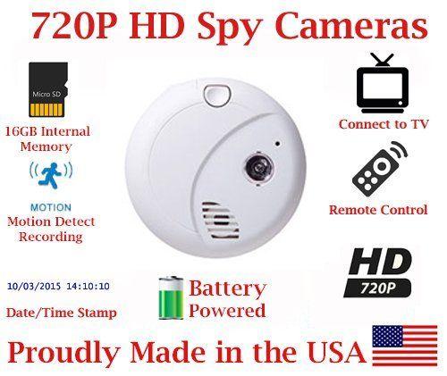 SecureGuard 36 hrs Battery Powered Smoke Detector WiFi Spy Camera