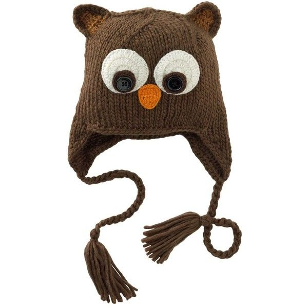 SO Owl Trapper Hat (23 AUD) ❤ liked on Polyvore featuring accessories, hats, animals, owl, trapper hats, owl hat, animal hat and animal trapper hats