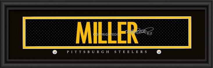 "Pittsburgh Steelers Heath Miller Print - Signature 8""x24"""