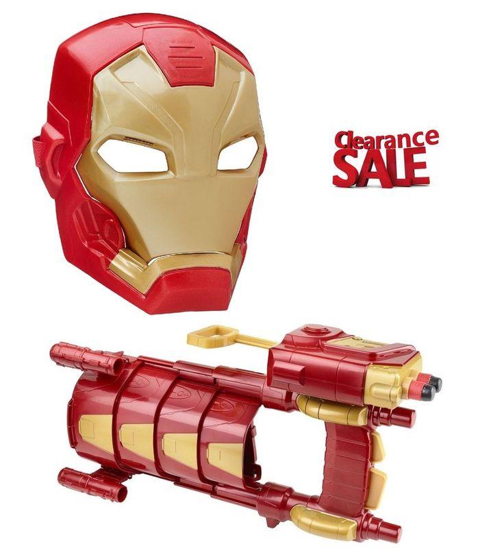 Marvel Iron Man Set Slide Blast Armor with Mask Toy Captain America Civil War  #Marvel