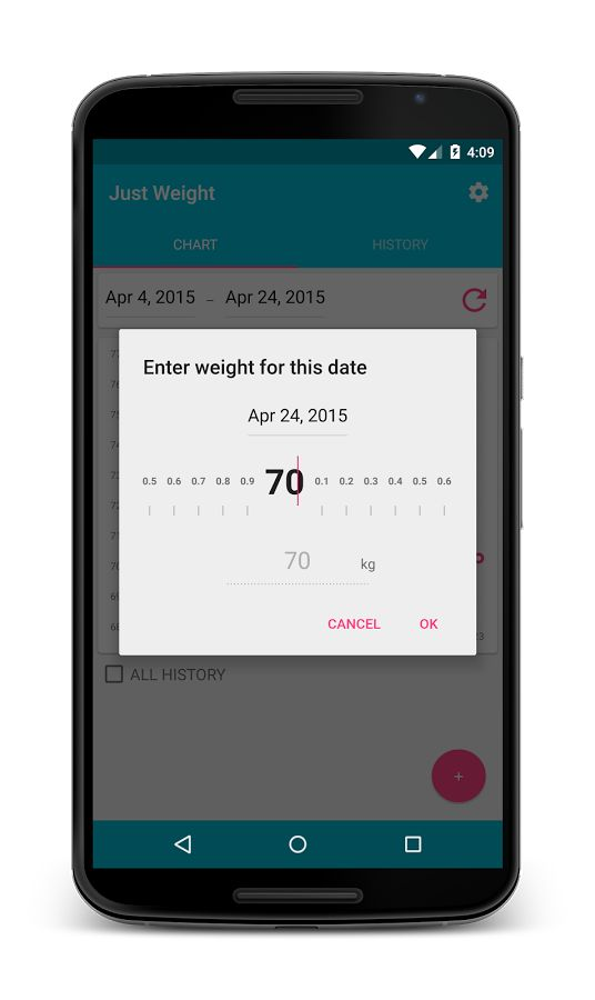 Just Weight. Track Your Weight