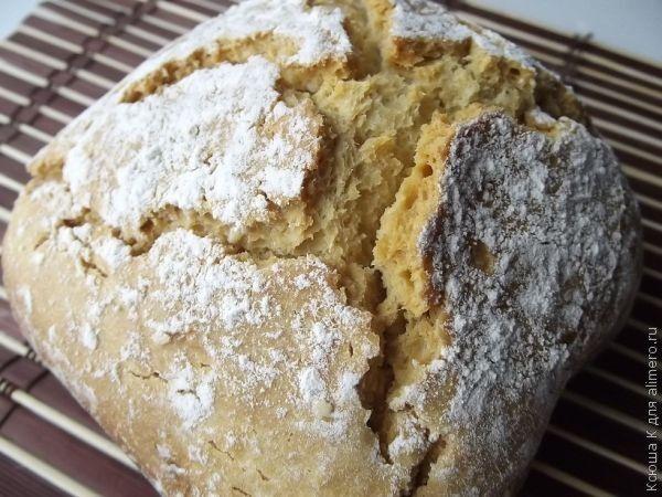Бездрожжевой хлеб в хлебопечке (на кефире)