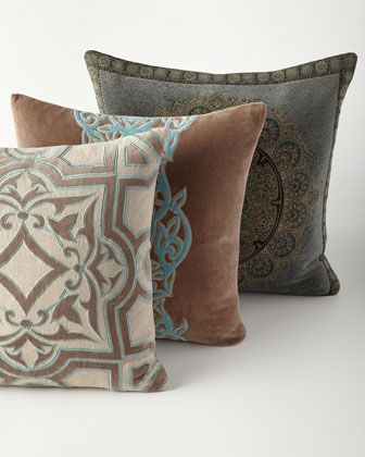 New Traditional Pillows by Sabira at Horchow.
