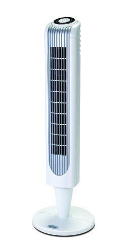 32 in. 3 Speeds Oscillating Tower Fan Floor Air Conditioner with Remote Control #Holmes