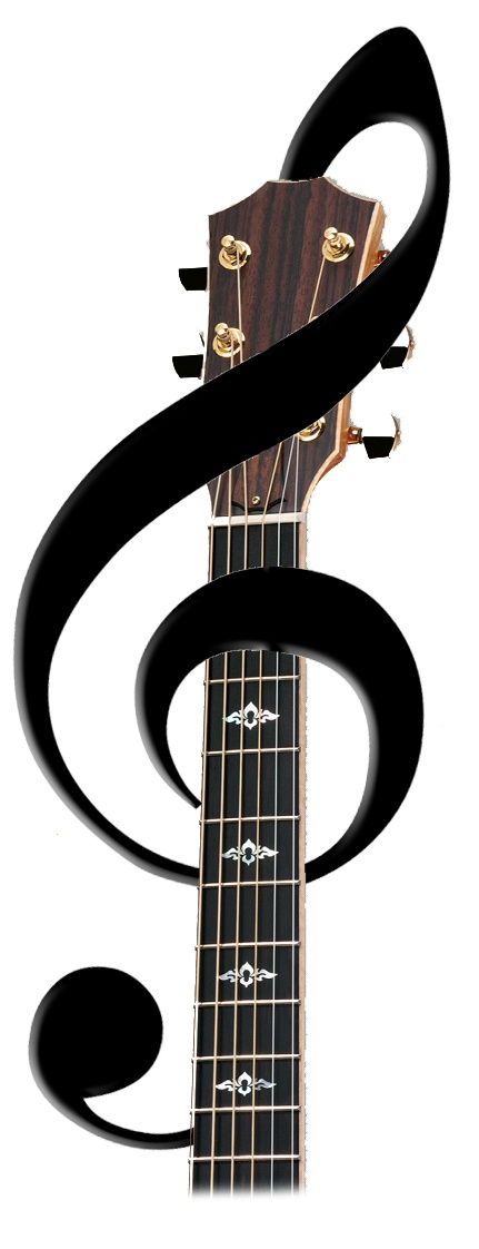 Guitar tattoo idea with treble clef | Just because I like it ...