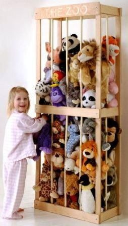 Soft Toy Storage - Very Clever!