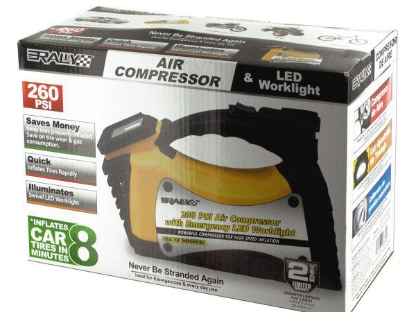 Rally Auto Air Compressor & LED Worklight