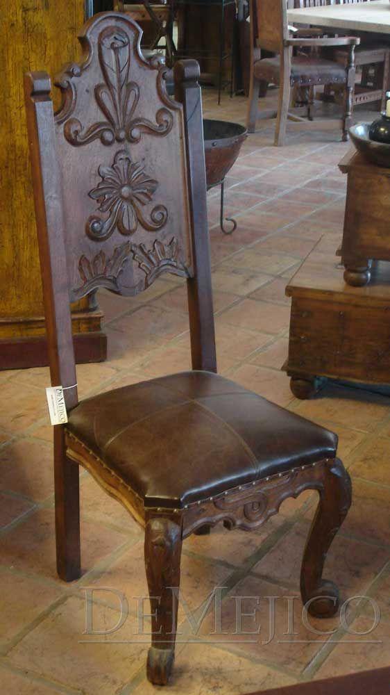 custom spanish style furniture. conquista chair in mesquite custom spanish style furniture