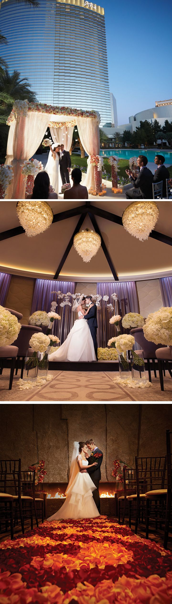 When you think Las Vegas Wedding, do you think Elvis? Drive thru? Sequins? ARIA offers you truly remarkable venues that rival any destination wedding. From pool-side nuptials to vow renewals in in our Fireside Lounge, these locations are anything but cliché. And, if your family and friends can't join you, we will live-stream the entire ceremony.