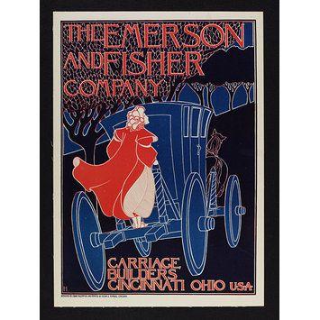 Artista: Frank Hazenplug Fecha: 1895 Titulo: The Emerson and Fisher Company - Carriage Builders Pais: Estados unidos