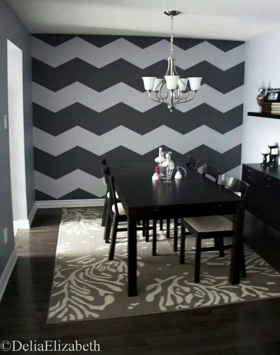 Chevron accent wall.. I want in the dinning room or loving room