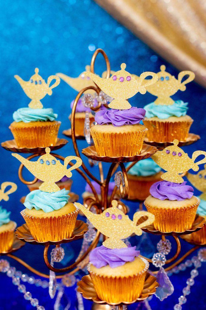 Genie Lamp Cupcakes From An Aladdin Birthday Party On Karas Ideas
