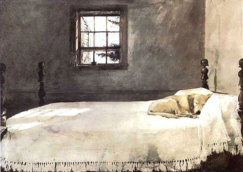 Master Bedroom (1965); by Andrew Wyeth