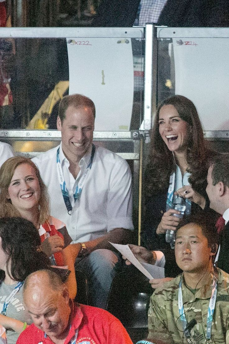 Those genuine smiles… | These Photos Of Kate Middleton And Prince William Will Melt Your Heart...WE often see Kate and William laughing and smiling and really enjoying each other's company!