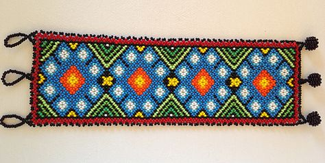 Huichol handmade beaded and woven bracelets