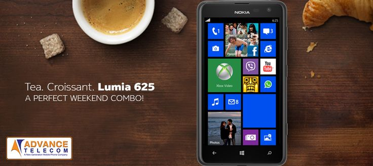 A perfect morning combo with the Nokia Lumia 625!