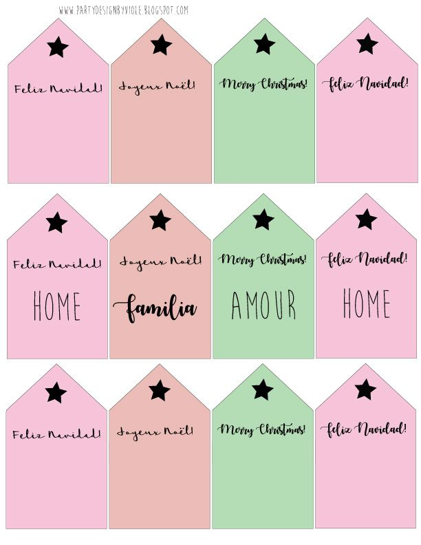 Joyeux Noel Violetta.Free Christmas Labels Placemat And Printable Pink G Free