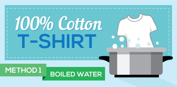 Who wants to wear a XL shirt when they typically wear a medium or large? Amy discovered some easy ways to shrink 100% cotton shirts and baseball caps!