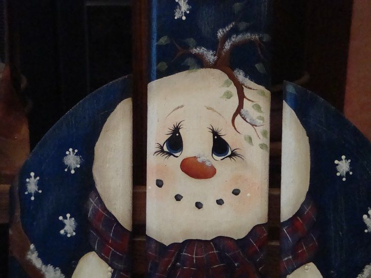 51 best old sleds saucers painted images on pinterest for Snowman faces for crafts