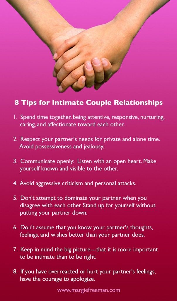 tips for an healthy relationship