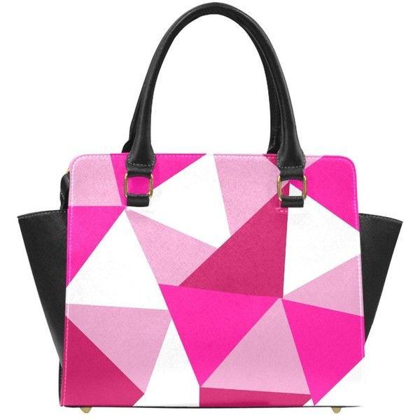 Pink Patchwork Classic Shoulder Handbag (Model 1653) Atelier Briella ($32) ❤ liked on Polyvore featuring bags, handbags, shoulder bags, pink handbags, shoulder bag handbag, pu leather handbags, patchwork purse and shoulder handbags