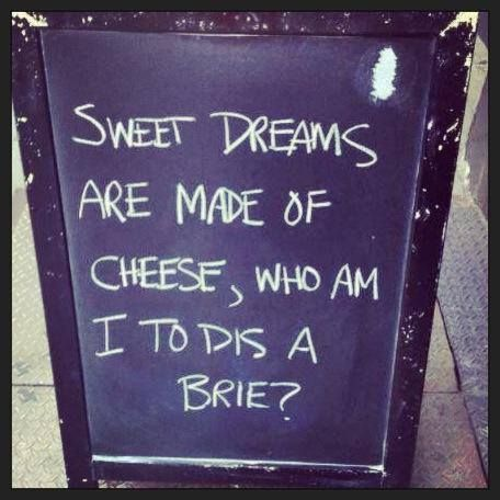 Sweet dreams.. of cheese
