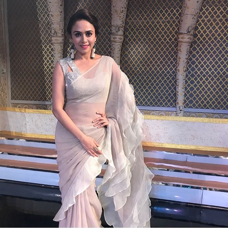 "59 Likes, 12 Comments - House Of 2 (@house_of_2) on Instagram: ""This epic frill saree of Amruta khanvilkar it's just an OMG piece To purchase this product mail us…"""