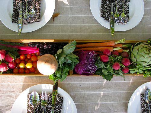 farmer's market theme centerpieces   Party Time. Excellent