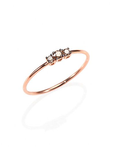 KALAN by Suzanne Kalan - Champagne Diamond & 14K Rose Gold Ring - Saks.com