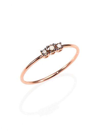 KALAN by Suzanne Kalan - Champagne Diamond & 14K Rose Gold Ring - Saks.com
