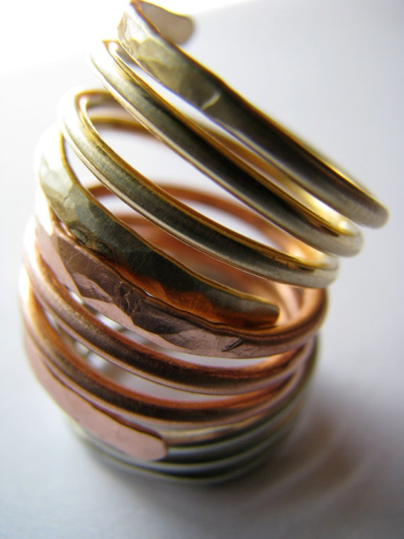 Spring in Motion Copper Ring SEALED by SinfuneeDelicious on Etsy, $28.95