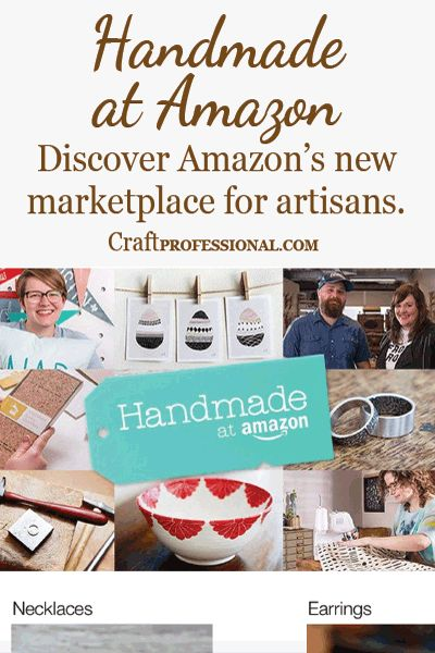 Handmade at Amazon - Learn about Amazon's new opportunity for craft business owners http://www.craftprofessional.com/handmade-at-amazon.html