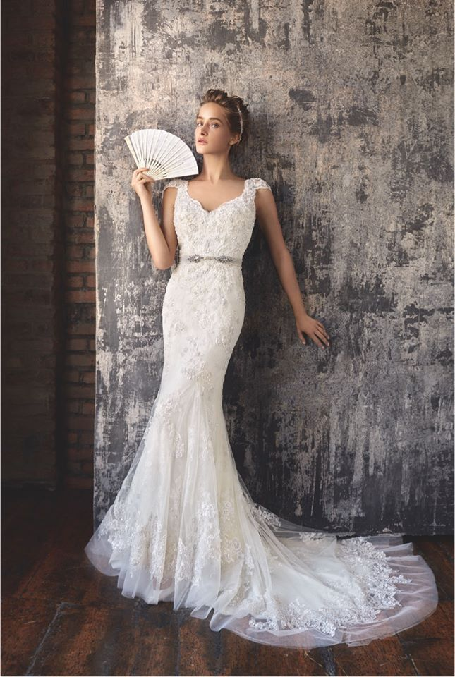 Timeless Wedding Dresses 2016 from Lusan Mandongus : http://www.itakeyou.co.uk/wedding/lusan-mandongus-2016-wedding-dresses #weddinggowns