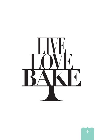 LIVE LOVE BAKE poster Stretched Canvas by Donna Hainstock | Society6