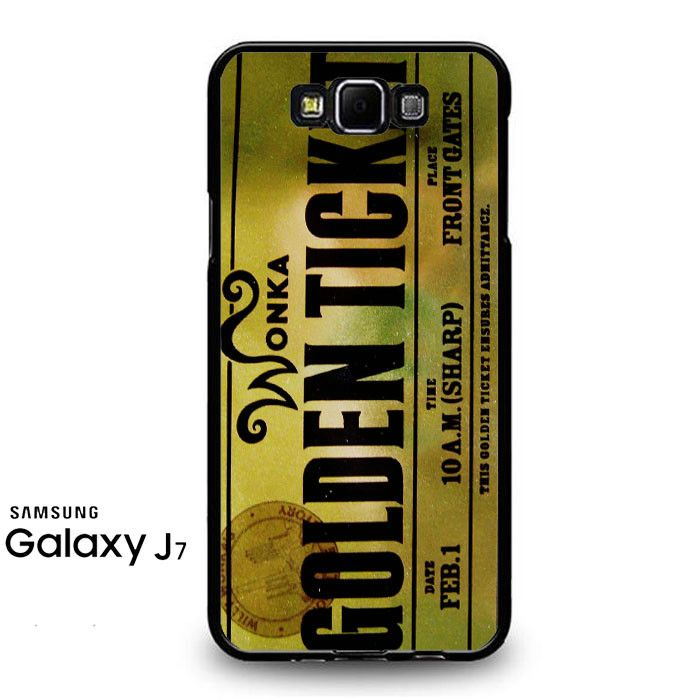 Willy Wonka Golden Ticket Samsung Galaxy J7 Prime Case